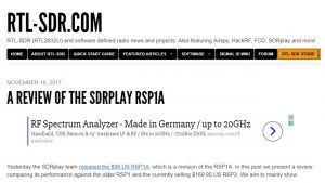 RTL-SDR.com review of the new RSP1A
