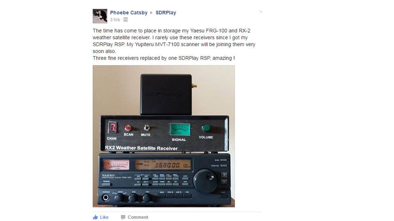 Sdrplay Blog Mvt Communications Public Company Limited It Was Great To See This Cheery Post On The Facebook Group Just Now