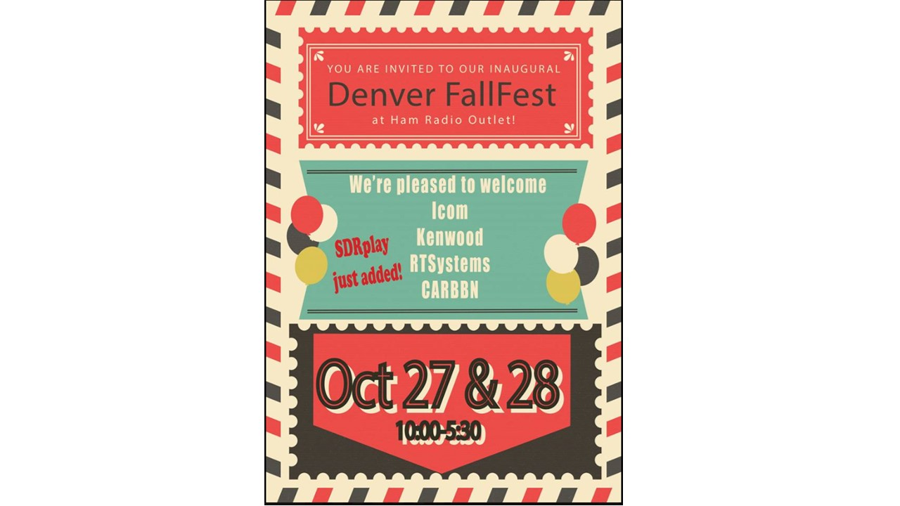 SDRplay will be at the denver Hamfest October 28-29 2017