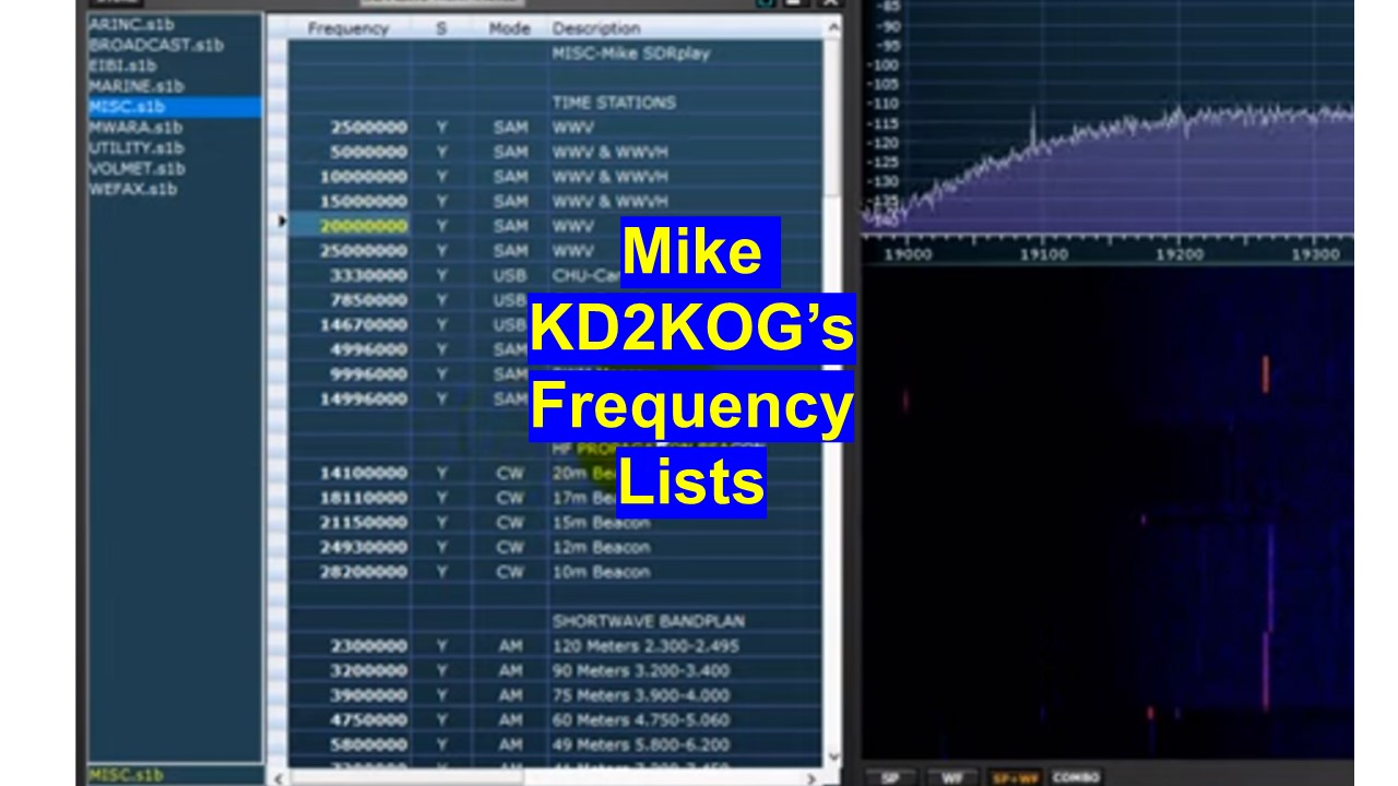Ready made frequency lists for SDRuno - SDRplay Community Forum