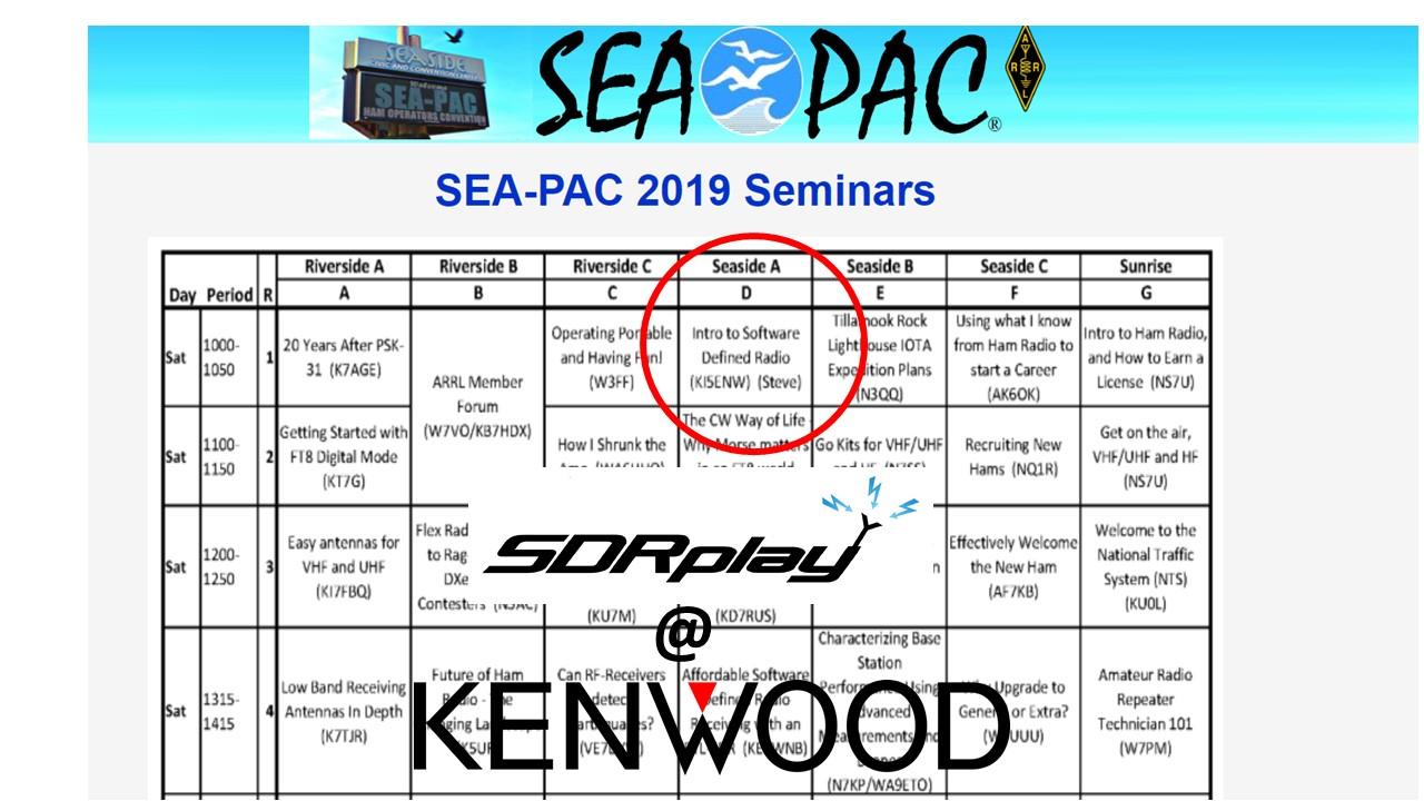 SDRplay speaking at SEA-PAC, Oregon USA this weekend